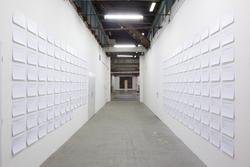 Jakub Valenta - The voice of the main and supporting characters, 2015, exhibition view, installation