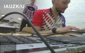 Jakub Valenta and Viktor Vejvoda - Live broadcast from Z/KU Berlin, 2015, webcam still frame